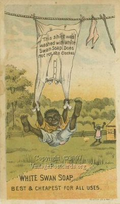 Black Americana Trade Card, White Swan Soap