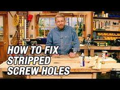 How to Fix Stripped Screw Holes Stripped Screw, Hallway Walls, Floor Stain, Exterior Front Doors, Home Fix, Good Bones, Camper Renovation, Habitat For Humanity, Door Hinges