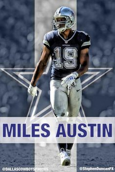 Miles Austin - WR #19 - Played for Dallas Cowboys (2006-2013), and now Cleveland Browns (2014-present). College was Monmouth.