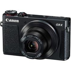 "Canon PowerShot G9 X Ultra Slim Digital Camera, 20.2MP, 3x Optical Zoom Lens, 3.0"" Touchscreen LCD, Wi-Fi & NFC, Manual Control Ring, Black"