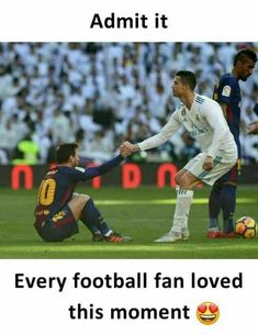 Practice kicking in football. Although kicking might not seem that it is a big part of football, it still can play an important role during the game. Messi Vs Ronaldo, Ronaldo Juventus, Lionel Messi, Cristiano Ronaldo Cr7, Funny Soccer Memes, Sports Memes, Football Quotes, Football Is Life, College Football