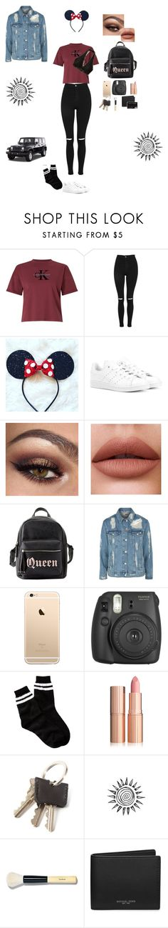 """Going to Disneyland!💕"" by elliejee ❤ liked on Polyvore featuring Calvin Klein, Topshop, adidas Originals, Hollister Co., Charlotte Russe, Fujifilm, Free Press, Bobbi Brown Cosmetics, Michael Kors and Wrangler"