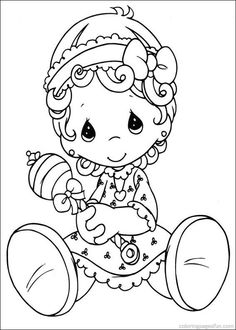 Baby And Teddy Bear Precious Moments Coloring Pages Precious