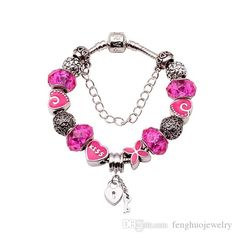 Fashion 925 Sterling Silver Field of Rose Red Murano Glass&Crystal European Charm Beads Fits Pandora Style Bracelets FHY116 from Fenghuojewelry,$4.82   DHgate.com