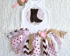 Fabric tutu outfit, Cowgirl tutu set, Shabby Chic Birthday Outfit, Cowgirl or… Cowboy Outfits, Tutu Outfits, Newborn Outfits, Kids Outfits, Baby Outfits, Cowgirl Birthday, Birthday Tutu, Birthday Outfits, 3rd Birthday