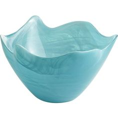 Pier 1 Imports Turquoise Alabaster Serving Bowl ($25) ❤ liked on Polyvore featuring home, kitchen & dining, serveware, turquoise, pier 1 imports, glass serveware and glass serving bowl