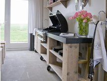 De beste kookkunsten in een (buiten)keuken van steigerhout! Steigerhouten buitenkeukens | dutchwood.nl (Tip)