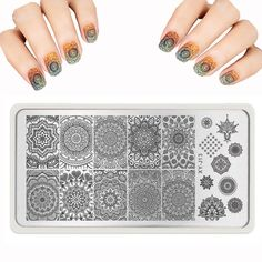 2016 lot Nail Art Templates Round Lace Stencils for nail Stamp polish Image Steel Series Rctangular DLY Nail Stamping PLates >>> Find out more about the great product at the image link.