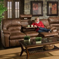 Nebraska Furniture Mart – Franklin Brown Microfiber Reclining Sofa :::This needs to be in my living room, right now::: Basement Furniture, Home Furniture, Drop Down Table, Old Bricks, Nebraska Furniture Mart, Leather Furniture, Reclining Sofa, My Living Room, Sofa Set