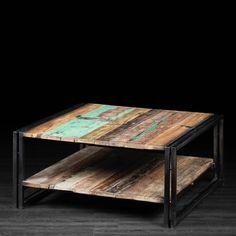 Mesa de café hecha a mano con palets