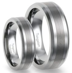 His & Her's 8MM/6MM Tungsten Carbide Brushed Finish Wedding Band Ring Set (Available Sizes 5-15 Including Half... - List price: $565.00 Price: $44.95 Saving: $520.05 (92%)