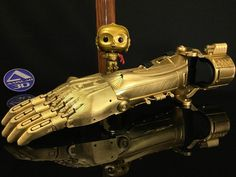 C3PO themed e-NABLE prosthetic made on an R1 plus ROBO 3D Printer by our amazing customer Aaron Brown! #enable #3dprinting #starwars #c3po #robo3d by robo3dprinter