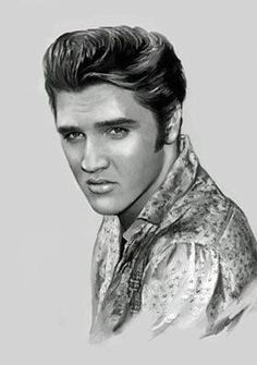 Image result for really good elvis presley drawings