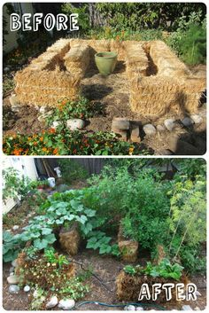 Introduction to Straw Bale Gardening Straw Bale Gardening is a simply a different type of container gardening. The main difference is that the container is actually the straw bale itself, held Hay Bale Gardening, Strawbale Gardening, Container Gardening, Organic Gardening, Gardening Tips, Vegetable Gardening, Potager Bio, Straw Bales, Plantar