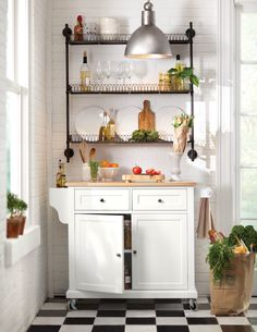 Home Decorators Collection Fynn White Kitchen Cart With Oak Top