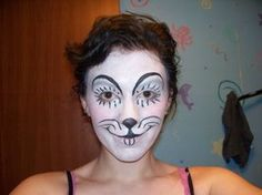 DeviantArt: More Like ring tail lemur face paints by GabriellesWings Mouse Face Paint, Mouse Make Up, Mouse Costume, Were All Mad Here, Cute Makeup, Creative Makeup, Male Face, Face Art, Face And Body