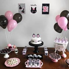 Bom dia com essa linda inspiração de mesversário 💖🐈 #inspiresuafesta #bloginspiresuafesta Por @babyantonella1 . #merversario #festagatinhos - #mesversário #mesversarioisf 20 Birthday Cake, Cat Birthday, 1st Birthday Parties, Birthday Party Decorations, Birthday Celebration, Kitty Party, Fiesta Party, Girl Cakes, First Birthdays
