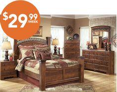 Majik Rent To Own Ashley Timberline Bedroom Set Id B258