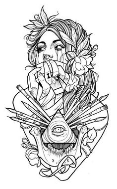 tattoo coloring book - Google Search