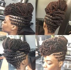 Dreadlock Styles, Dreads Styles, Updo Styles, Faux Locs Hairstyles, Crown Hairstyles, Pretty Hairstyles, Wedding Hairstyles, Puffy Hair, Loc Updo
