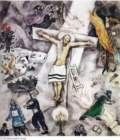 Marc Chagall White Crucifixion 1938 print for sale. Shop for Marc Chagall White Crucifixion 1938 painting and frame at discount price, ships in 24 hours. Cheap price prints end soon. Marc Chagall, Artist Chagall, Chagall Paintings, Chagall Prints, Papa Francisco, Art Institute Of Chicago, Salvador Dali, Sacred Art, Art History