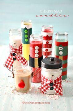 Convierte unas velas normales en velas navideñas originales y únicas
