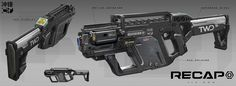 ArtStation - RECAP_Submachine gun Concept, Jia How
