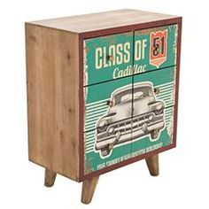 WOODEN CABINET 'CADILLAC' MICHAEL GREEN 60X32X73