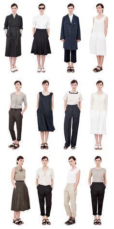 Margaret Howell SS For Merchant and Mills Workbook mods Minimalist Wardrobe, Minimalist Fashion, Muji Style, Feminine Tomboy, Margaret Howell, Moda Vintage, Looks Style, Japanese Fashion, Dandy