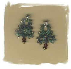 tatted tree earrings -- < found when I pinned ... http://www.pinterest.com/pin/507710557966875055/ via  ... http://www.pinterest.com/pin/507710557964014660/ . >