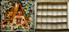 Countdown Calendar, Advent Calendar, Antique Christmas Ornaments, Valance Curtains, Antiques, Paper, Glass, Cards, Painting