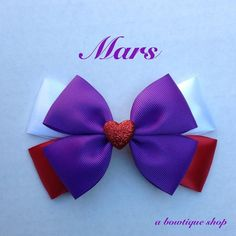mars hair bow by abowtiqueshop on Etsy