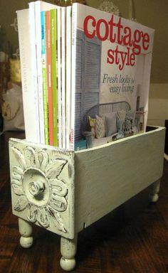 Vintage Wood Drawer, Repurposed Antique Sewing Machine Drawer, Shabby Chic Aqua…