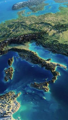#Italy sunrise view from satellite