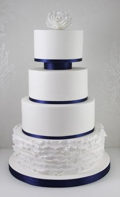 Wedding Cakes - The Fairy Cakery - Cake Decoration and Courses based in Wiltshire Unusual Wedding Cakes, Elegant Wedding Cakes, Beautiful Wedding Cakes, Beautiful Cakes, Fruit Wedding Cake, Wedding Cake Cookies, Wedding Cake Toppers, Blue Wedding, Wedding Colors