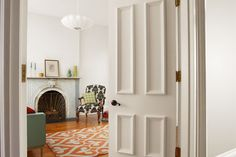 thisoldhouse: Just think of your building-grade slab door as a blank canvas. Follow our DIY to dress up a hollow-core door. #homedecor #livingroom #interiors #livingarea #design