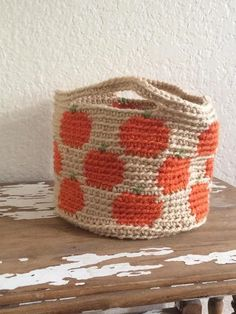 Pumpkin Basket—Free Crochet Pattern -