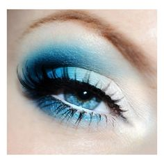 Bright blue eye makeup for jason