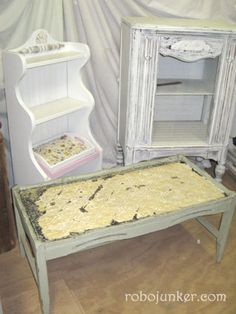 DIY Craft Projects using Old Ceiling tin tiles - Trash to Treasure - Architectural Salvage Painting Antique Furniture, Painted Furniture, Diy Furniture, Tin Tiles, Tin Ceiling Tiles, Small House Design, Recycled Furniture, Architectural Salvage, Kitchen Remodeling