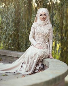 Miss World, Hijab Dress, Hijab Fashion, Bridal Dresses, Hijab Styles, Abayas, Bride, Chic, Clothing