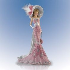 Radiant Sophistication Swarovski Crystals Thomas Kinkade Lady Figurine Bradford