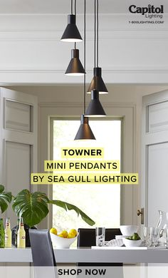Get creative with Towner mini pendants! See the lighting here. Shop Lighting, Pendant Lighting, Mini Pendant, New Homes, Pendants, Ceiling Lights, Creative, Animals, Home Decor