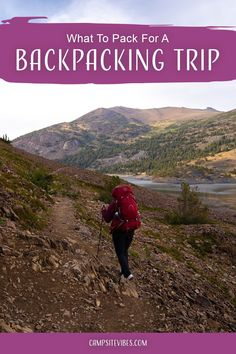 Are you going on your first backpacking trip soon? Figuring out what   gear you need for backpacking can be overwhelming. In this blog post, I   list out my entire backpacking packing list with everything from sleeping bags, tents, sleeping pads, clothing, and more! You'll even have a checklist! #backpacking Thru Hiking, Hiking Gear, Sequoia National Park, National Parks, Travel Advice, Travel Tips, Backpacking Packing List, Nevada Mountains, John Muir Trail