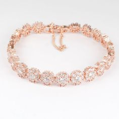 Rose Gold Diamante Bracelet