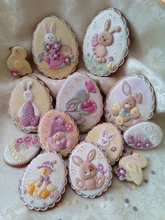 Osterplätzchen von Svetlana - Easter and Spring ❤️❤️❤️ - Oster Cookies Cupcake, Fancy Cookies, Easter Cupcakes, Iced Cookies, Cute Cookies, Easter Cookies, Fun Cupcakes, Easter Treats, Sugar Cookies