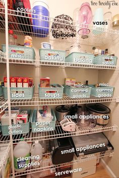 Pantry Organization. It would be so much cuter with Thirty-One gift organizers. www.mythirtyone.com/PennyBatts