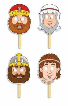 David and Goliath! Bible Character Masks by Scholastic, Inc. Bible Crafts For Kids, Preschool Bible, Bible Activities, Kids Sunday School Lessons, Sunday School Crafts, David Bible, Esther Bible, David And Goliath Craft, Youth Bible Study