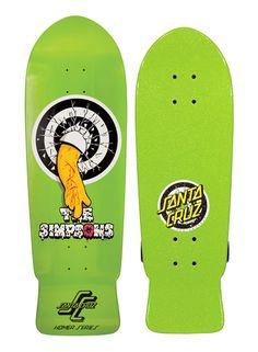 Coup de coeur pour cette superbe collection de skateboards Sant Cruz à la sauce Simpson.