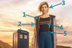 The boots, the braces, the stripes - the Thirteenth Doctor's new look is packed with references to previous incarnations, and beyond...