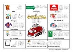 Pratkarta-Brandövning Learn Swedish, Swedish Language, Kids Planner, Sign Language, Free Printables, Diy And Crafts, Education, Learning, Languages